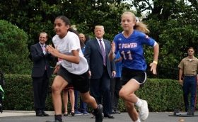 High School Sport - Trump tells young athletes to play to win, have a good life