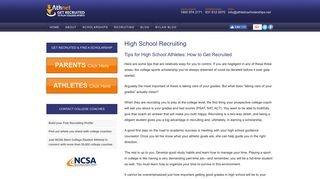 College Recruitment Tips · AthleticScholarships.net