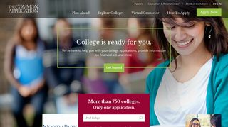 Common App · Search for Colleges