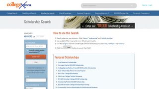Scholarship Finder · Collegexpress.com