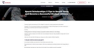 Sports Scholarship Tips