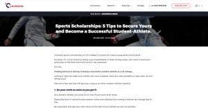 Sports Scholarship Tips · CrimsonEducation.org