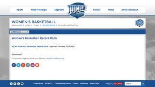 NJCAA Womens Basketball