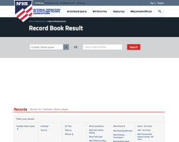 NFHS Football Record Book