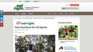 Fall Sports Nutrition