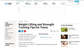 Strength Training Tips for Teenagers