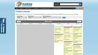 FSHAA Calendar
