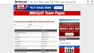 Florida Track and Field Teams and Clubs