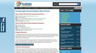 FL High School Athletic Hall of Fame