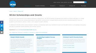 NCAA Scholarships and Grants
