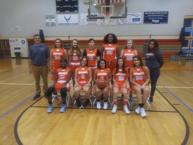 University Girls JV Basketball - Team Photo
